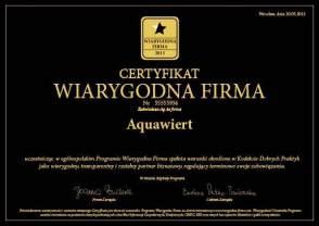 Certyfikat wygodna firma